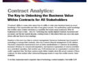 Contract Analytics The Key to Unlocking Business Value within Contracts for All Stakeholders