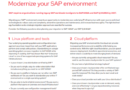 Executive checklist: Modernize your SAP environment