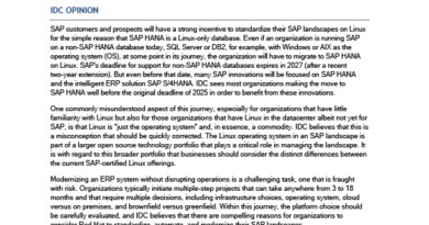 For SAP Landscapes, Migration Means Much More Than Just Linux
